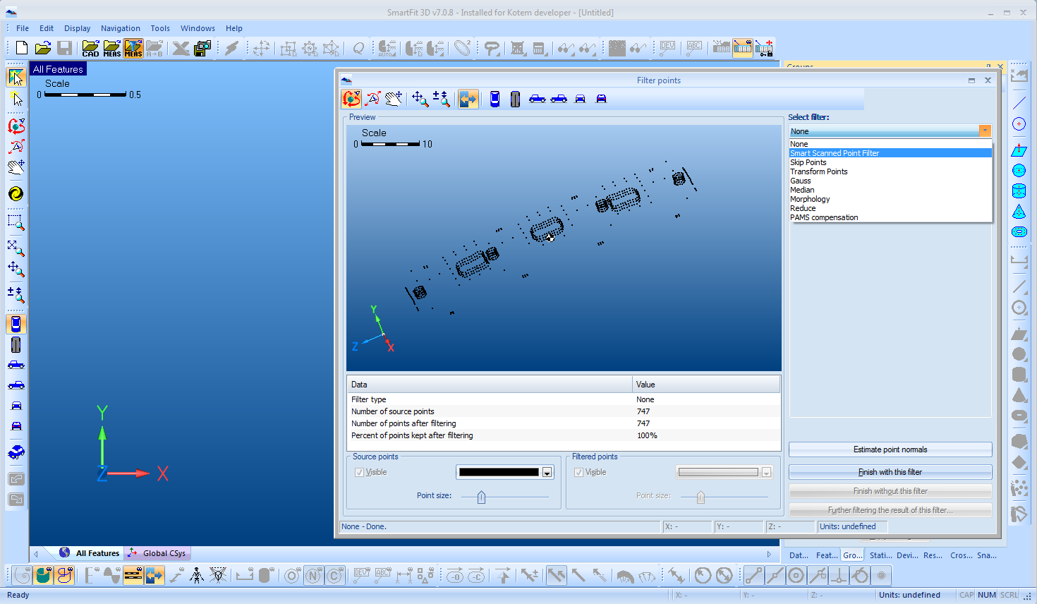 determine best fit topology pdf